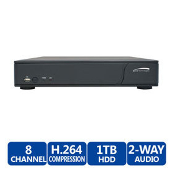 Speco D8RS1TB 8-Channel Digital Video Recorder - 1TB HDD included