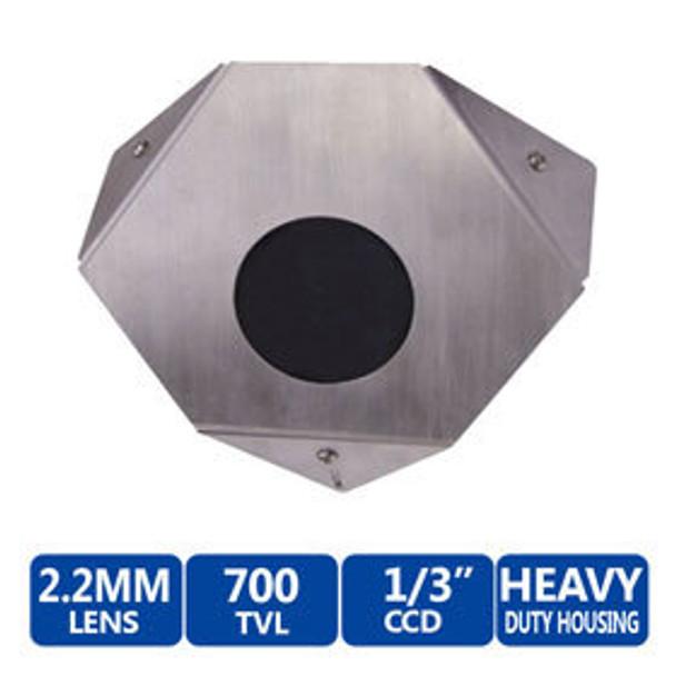 Speco CVC607CMTP2.2 700TVL 960H Corner Mount Color CCTV Analog Security Camera - 2.2mm Lens