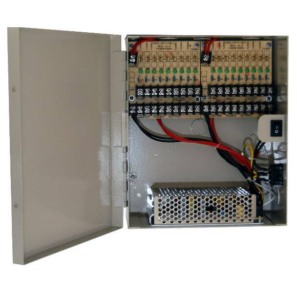 LTS DV-AT1215A-D10 18 Camera Power Supply 12VDC 18 Amps