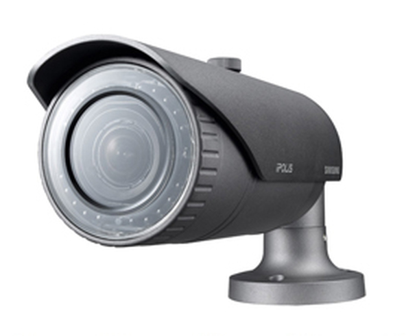 Samsung SNO-7084R 3MP IR Outdoor Bullet IP Security Camera - 3~8.5mm Motorized Lens