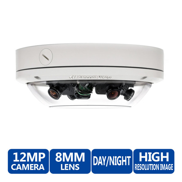 Arecont Vision AV12176DN-08 12MP SurroundVideo Omni Dome IP Security Camera - WDR