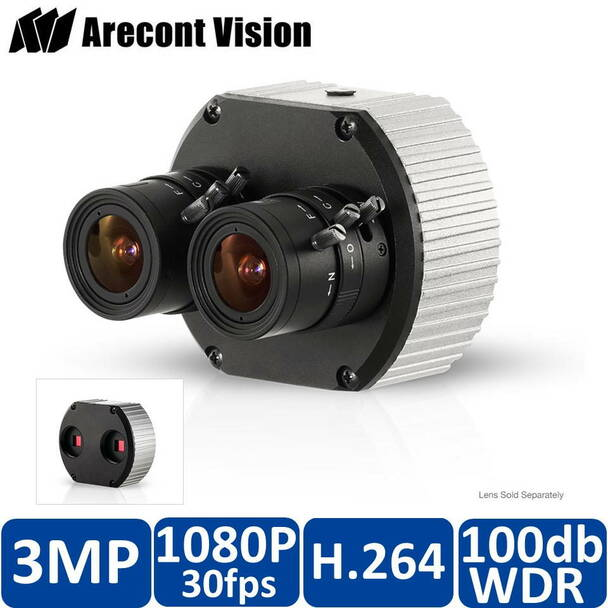 Arecont Vision AV3236DN MegaVideo Indoor Box IP Security Camera with Dual Sensor