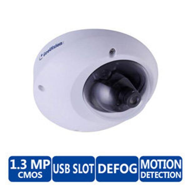 Geovision GV-MFD1501-4F 1.3MP Indoor Mini Dome IP Security Camera - 2.1 mm Lens