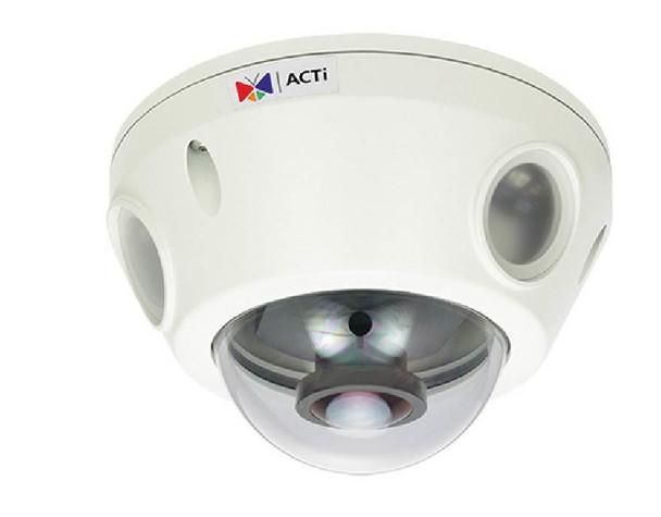 ACTi E929 Outdoor Fisheye Mini Dome Security Camera - 3MP, Day/Night, Superior WDR, Weatherproof, SD Card Slot