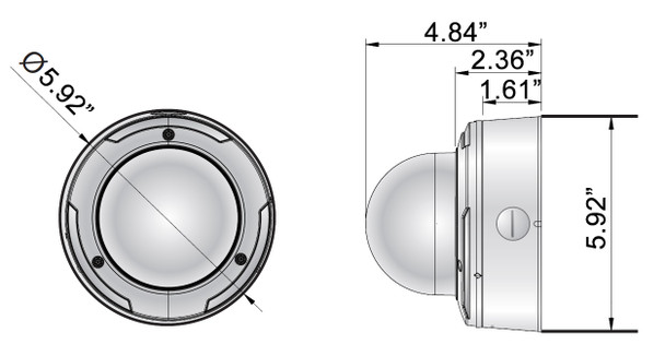 DH-IV-980W Dimension
