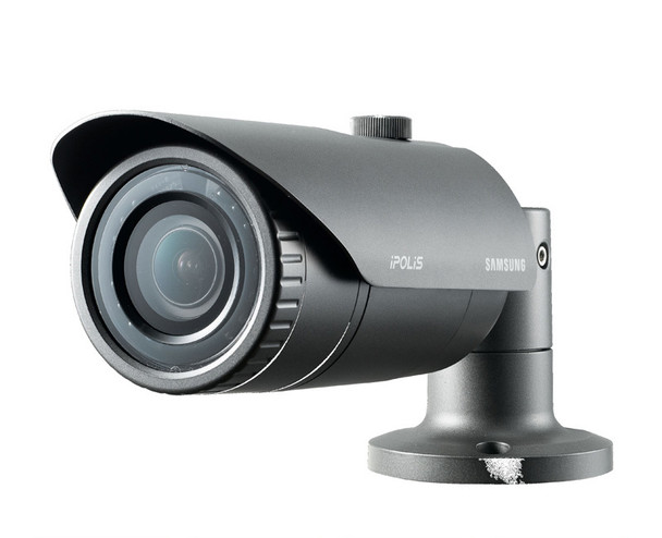 "Samsung SNO-L5083R 1.3MP IR Bullet IP Security Camera - 2.8~12mm Varifocal Lens, 4.3x Optical Zoom, 1/3"" CMOS, Weatherproof"