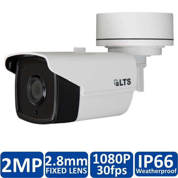 LTS CMHR9222W-28 2.1MP IR Outdoor Bullet HD-TVI Security Camera - 2.8mm Fixed Lens