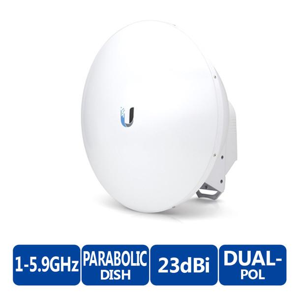 Ubiquiti AF-5G23-S45-US airFiber  5GHz Dish Antenna - 23dBi, Slant 45