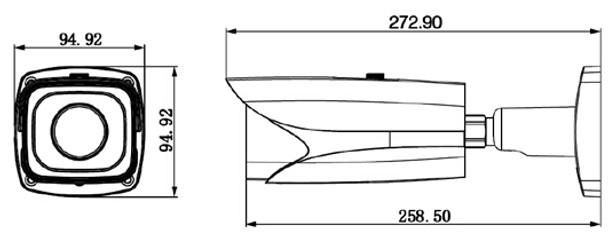 Dahua IPC-HFW81200E-Z Dimension