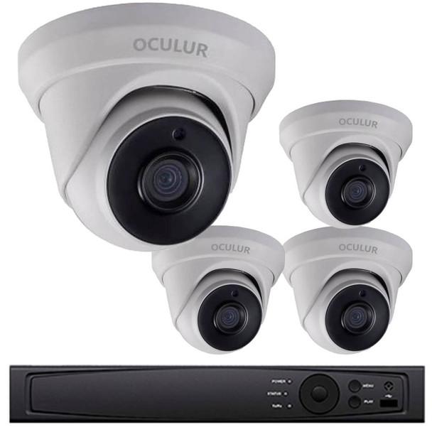 Turret CCTV Analog Security Camera System, 4 Camera, Outdoor, Full HD 1080p, 1TB Storage, Night Vision, LTD8304-D2M
