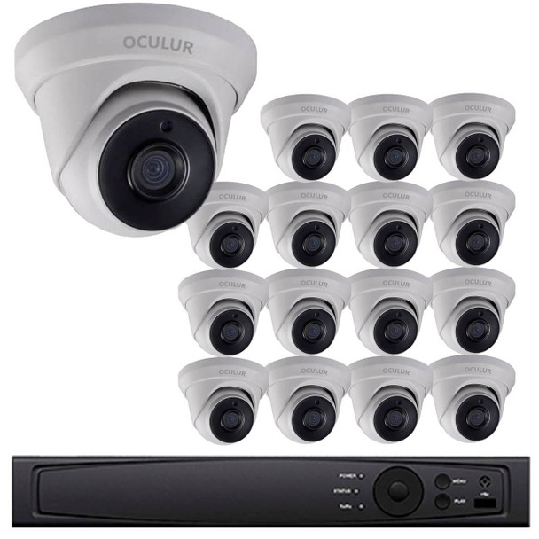 Turret CCTV Analog Security Camera System, 16 Camera, Outdoor, Full HD 1080p, 3TB Storage, Night Vision, LTD8316-D2M