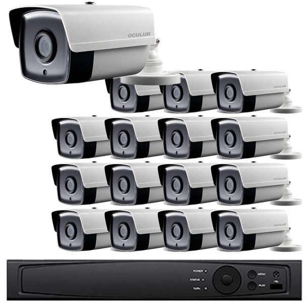 Bullet CCTV Analog Security Camera System, 16 Camera, Outdoor, Full HD 1080p, 3TB Storage, Night Vision, LTD8316-B2W