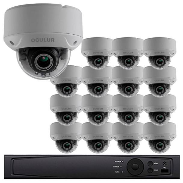 Dome CCTV Analog Security Camera System, 16 Camera, Outdoor, Full HD 1080p, 3TB Storage, Night Vision, LTD8316-D2V