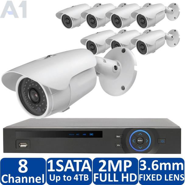 DH Vision 8-Camera HD-CVI Security Camera System