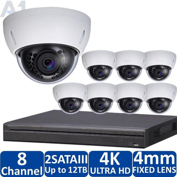 8-Camera 4K Indoor/Outdoor IP Security Camera System