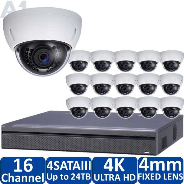 16-Camera 4K Indoor/Outdoor IP Security Camera System