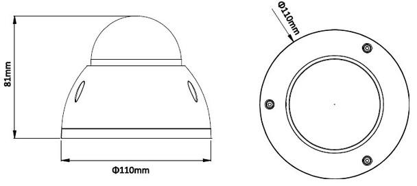 IPC-HDBW4800E Dimension