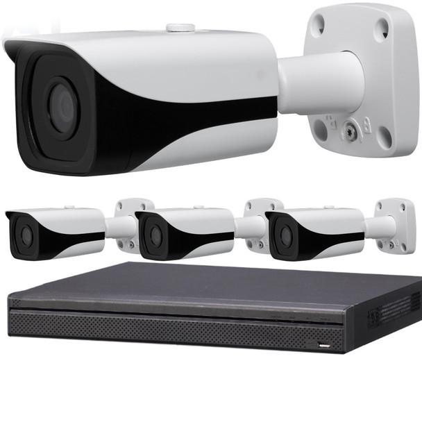 4-Camera 4K Indoor/Outdoor Bullet IP Security Camera System