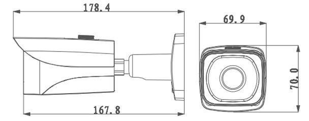 IPC-HFW4800 Dimension