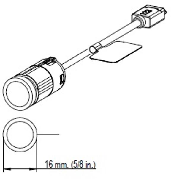 AXIS F1004 1MP Sensor Unit Dimension