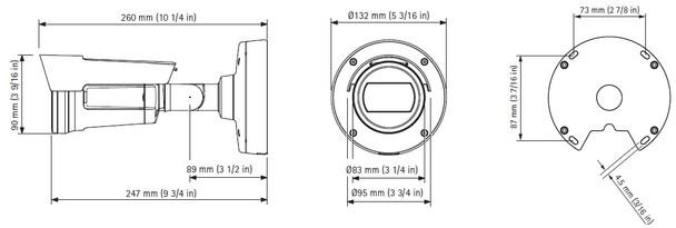 AXIS P1435-LE Outdoor Bullet IP Security Camera Dimension