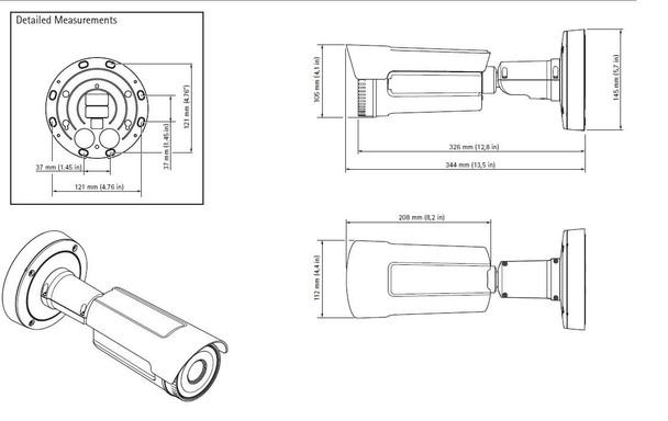 Axis Q2901-E Temperature Measurement and Alarm Camera Dimension