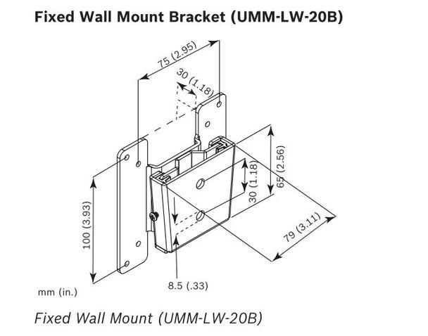 Bosch UMM-LW-20B Basic Wall Mount for Monitor