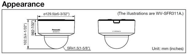 Panasonic WV-SFR311A IP Dome Security Camera