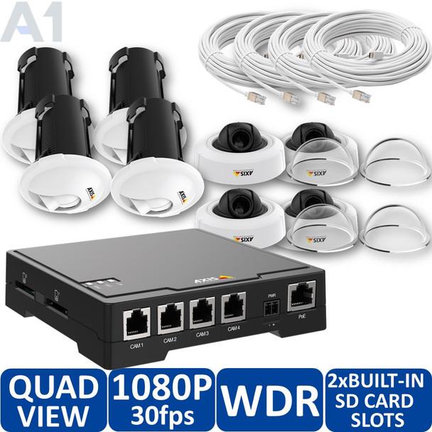 AXIS F34 Surveillance System,4x AXIS F1004 Sensor Units - 0779-004