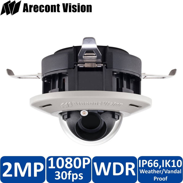 Arecont Vision AV2555DN-F-NL 2MP Dome IP Security Camera - No Lens included