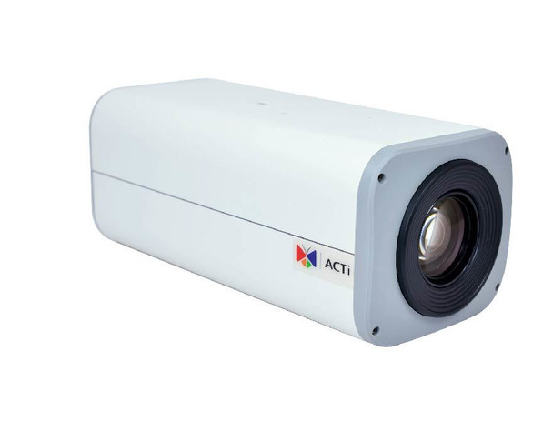 ACTi I28 2MP Indoor/Outdoor Box IP Security Camera - Day/Night, 33x Optical Zoom, Extreme WDR, SD Card Slot
