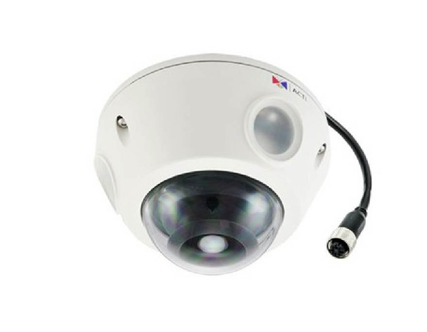 ACTi E928M Outdoor Mini Dome IP Security Camera - 3MP, Day/Night, Superior WDR, Weatherproof, SD Card Slot