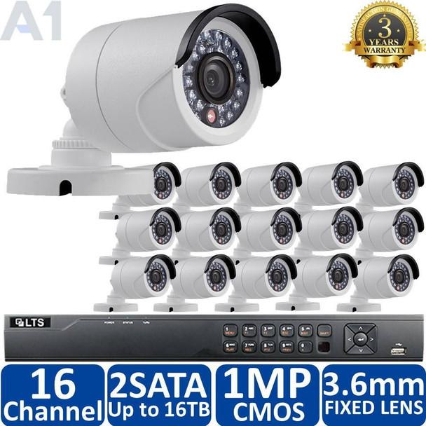 LTS Security 16-Camera 720p