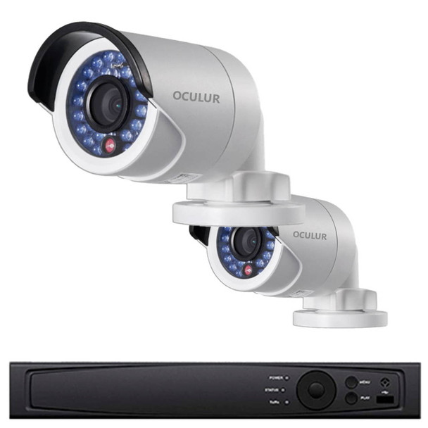2-Camera Bullet IP Security Camera System 4MP - 20fps @ 2688x1520p, True WDR, Weatherproof, 1TB of Storage, LTN8702-B4W
