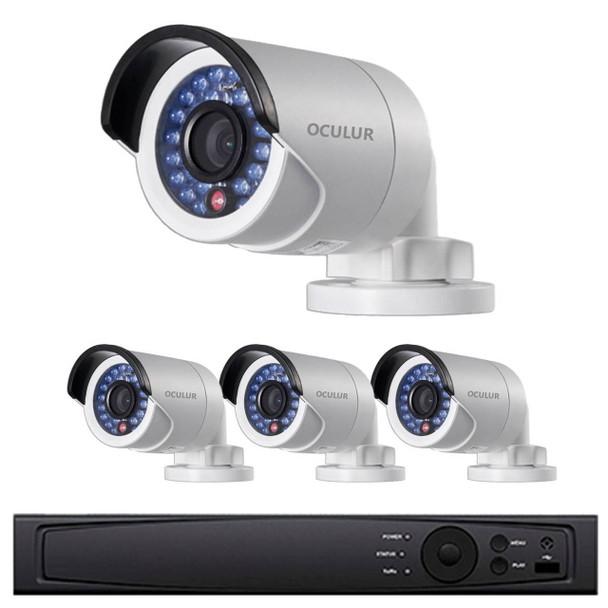 Bullet IP Security Camera System, 4 Camera, Outdoor, Full HD 1080p, 1TB of Storage, Night Vision, LTN8704-B2F