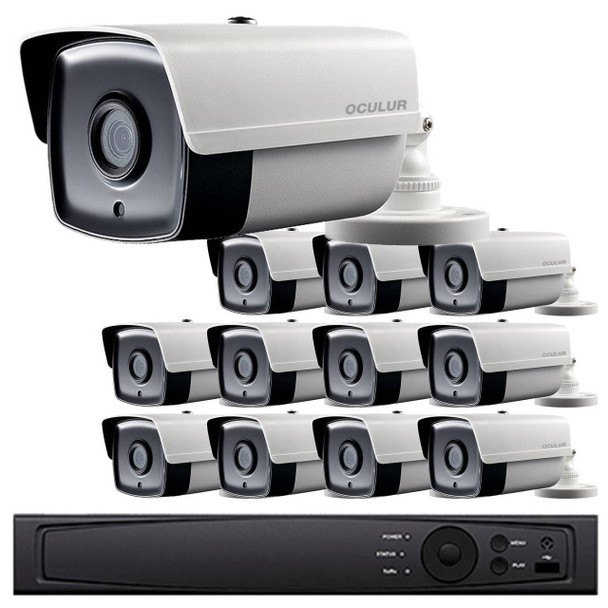 12-Camera 1080p Full HD CCTV Bullet CCTV Security Camera System - 2.8mm Lens, Night Vision, True WDR, Weatherproof, LTD8312-B2W