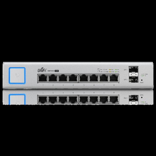 Ubiquiti US-8-150W-US UniFi Network Switch - 8 Port, 150 Watt Managed PoE+ Gigabit Switch with SFP