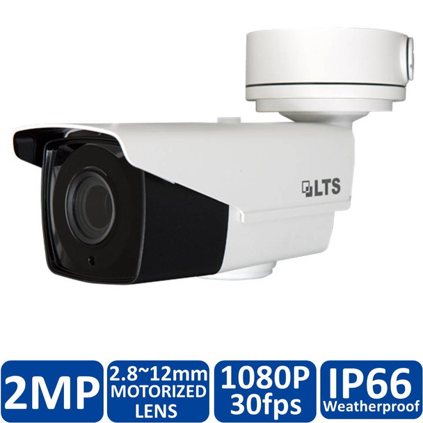 2.1 Megapixel InfraRed for Night Vision Outdoor Bullet HD-TVI Security Camera, Weatherproof, 2.8~12mm Motorized (Automatic Zoom) Lens, CMHR9623DW-Z