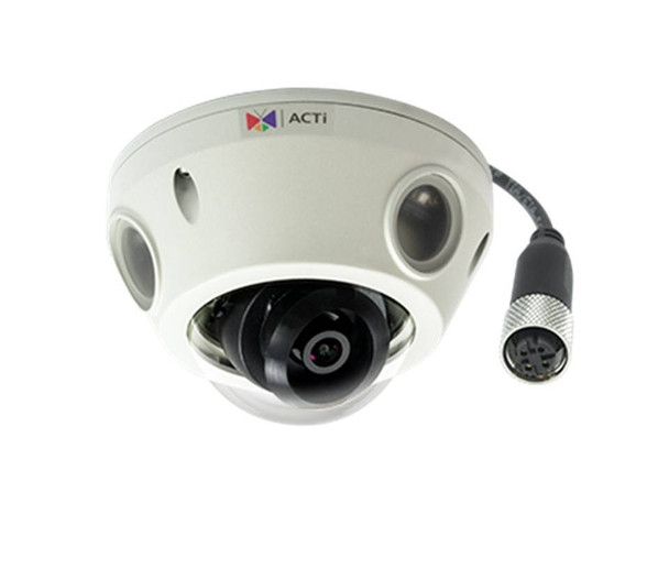 ACTi E933M 2MP Outdoor Network Mini Dome Security Camera - 2.55mm Fixed Lens, Extreme WDR (145 dB), Weatherproof, Vandal Proof, M12 Connector