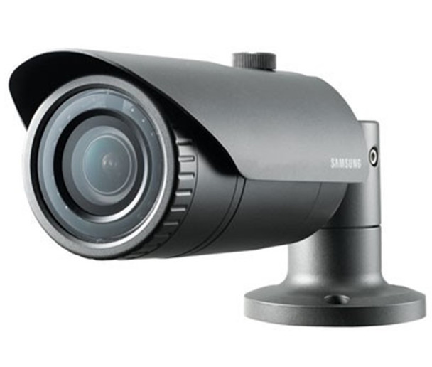 Samsung QNO-7080R 4MP IR Outdoor Bullet IP Security Camera with 2.8~12mm Motorized Lens