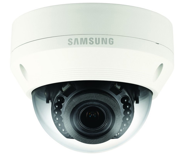 Samsung QNV-7080R 4MP IR H.265 Outdoor Dome IP Security Camera with 2.8~12mm Motorized Lens