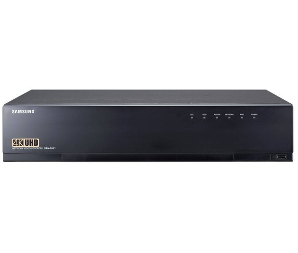 Samsung XRN-2011-16TB 4K 32 Channel 16TB Network Video Recorder - 16TB Pre-installed, 256Mbps Recording, WiseStream, Support H.265, H.264, MJPEG