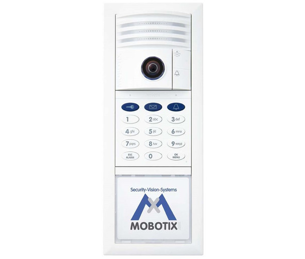 Mobotix MX-T25-SET1 6MP Indoor/Outdoor Complete Kit IP Video Door Station - 1.6mm Fixed Lens, Day, vPTZ, Ethernet, Keypad RFID, Weatherproof, White