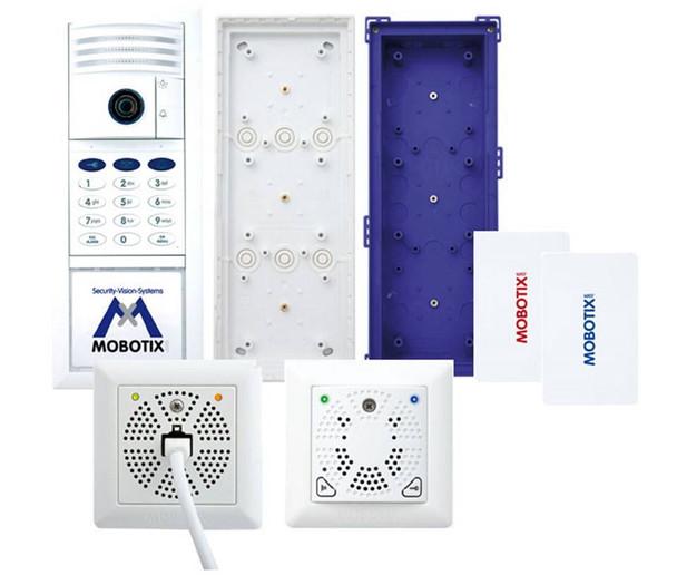 Mobotix MX-T25-SET2 6MP Indoor/Outdoor Complete Kit IP Video Door Station - 1.6mm Fixed Lens, Keypad RFID, Two-Wire, Keypad, DoorMaster, Weatherproof