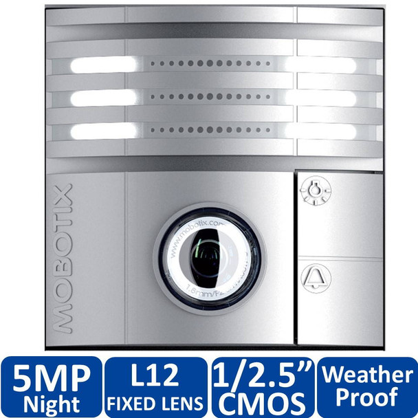 Mobotix MX-T25M-Sec-Night-N12-SV 5MP T25 IP Video Door Station