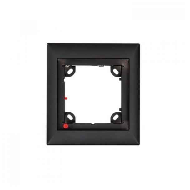 Mobotix MX-OPT-Frame-1-EXT-BL Single Frame - 131 x 143 x 18 mm (W x H x D), Outdoor, Black