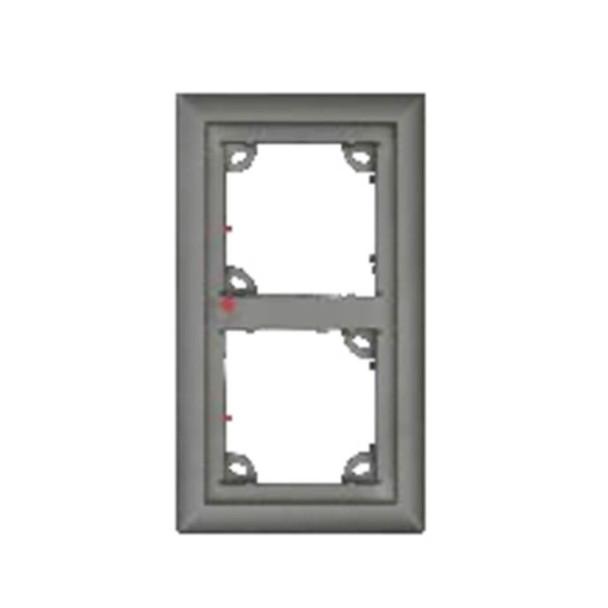 Mobotix MX-OPT-Frame-2-EXT-BL Double Frame - 131 x 233 x 18 mm (W x H x D), Outdoor, Black