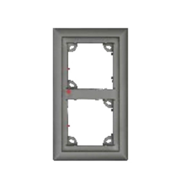 Mobotix MX-OPT-FRAME-2-EXT-PW Double Frame - 131 x 233 x 18 mm (W x H x D), Outdoor, White