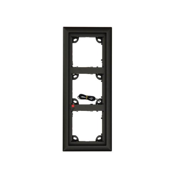 Mobotix MX-OPT-Frame-3-EXT-BL Triple Frame - 131 x 233 x 18 mm (W x H x D), Outdoor, Black