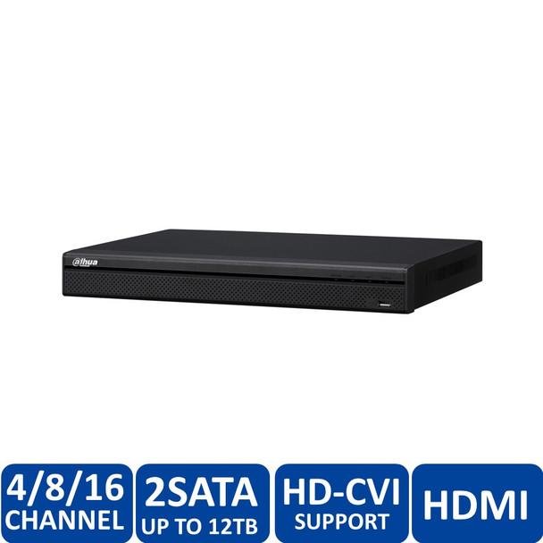 Dahua DHI-HCVR72A08A-S3-6TB 8 Channel Tribrid 720P-Pro 8-Channel Tribrid 2U HDCVI DVR (6TB HDD) - HDMI/VGA, 720p/1080p, 2 SATA up to 12TB